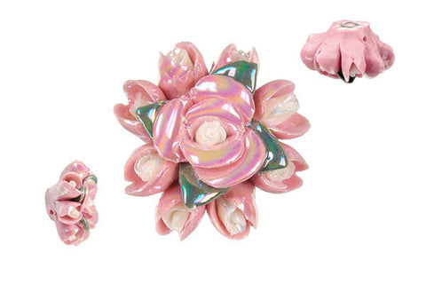 Pendant Poly Clay Flower (Pink 088)