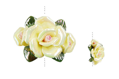 Pendant Poly Clay Flower (Yellow 074)