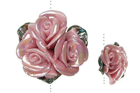 Pendant Poly Clay Flower (Pink 071)