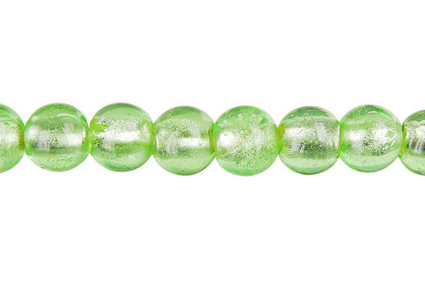 Murano Foil Glass Round (Light Mint)