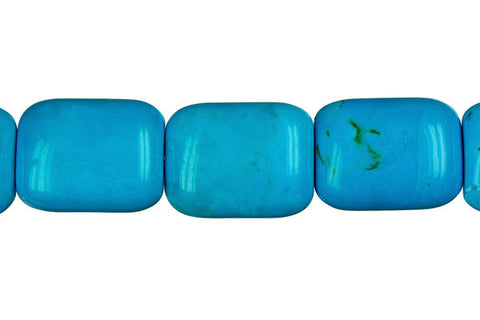 Howlite (Blue) Puffy Rectangle Beads
