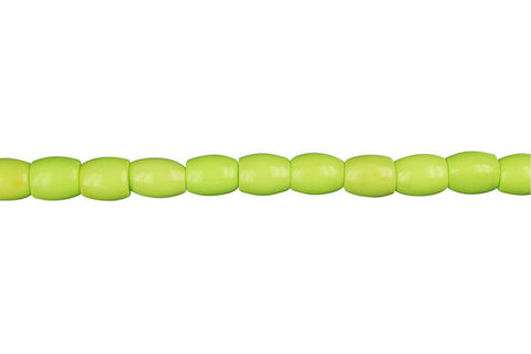 Howlite (Apple Green) Drum Beads