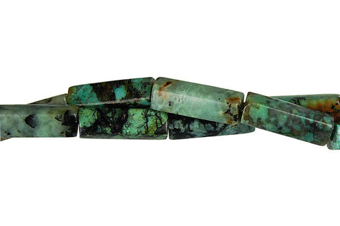 African Turquoise Square Tube Beads