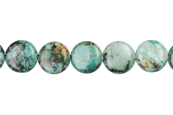 African Turquoise Coin Beads