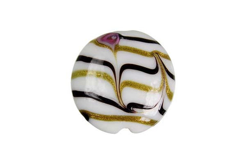 Pendant Murano Foil Glass Button (XD01)