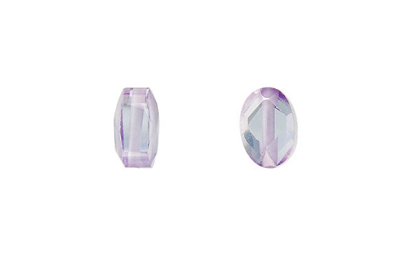 Pendant Cubic Zirconia Faceted Puffy Oval (Lavender)