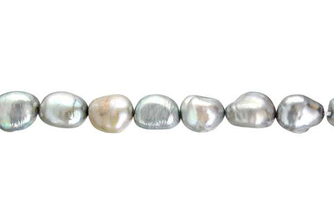 Assorted Dyed FWP Smooth Nugget (Silver), 7-8mm