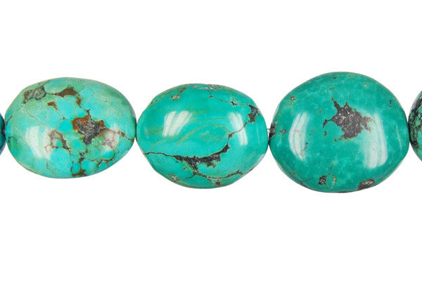 Turquoise (Stabilized) Smooth Nugget Beads