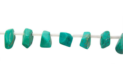 Turquoise (Stabilized) Faceted Slab (Top Drilled) Beads