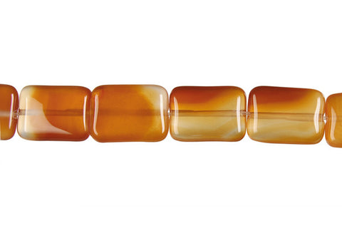 Red Agate Flat Rectangle Beads