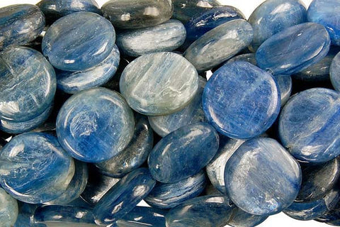Kyanite Coin (A) Beads