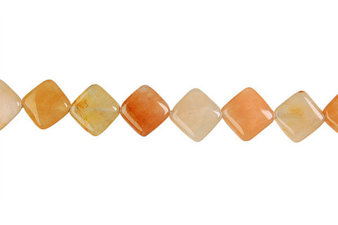 India Red Aventurine Diamond Square Beads
