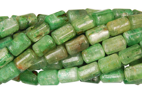 Green Kyanite Tube Beads