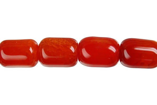 Fire Agate Drum Beads