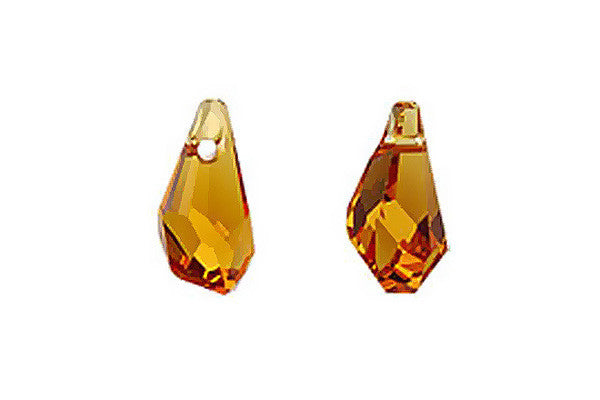 Swarovski Crystal Polygon Drop Pendant (6015) Topaz