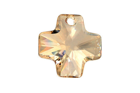 Swarovski Crystal Cross Pendant (6866) Crystal (Golden Shadow)