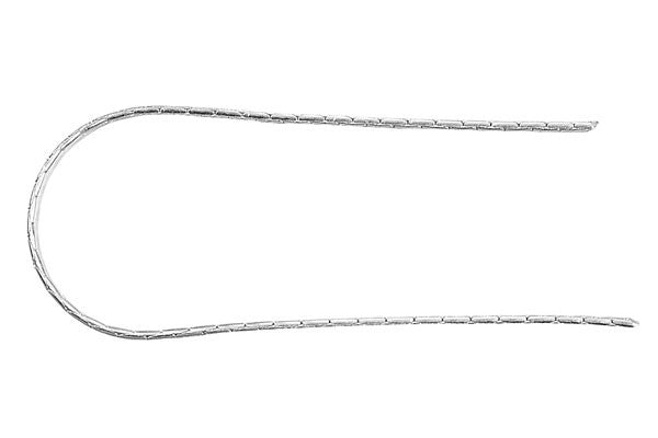 Sterling Silver Swage Chain, 0.65x2.0mm