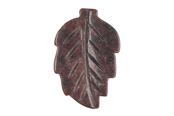 Pendant Rhodonite Leaf (Dark)