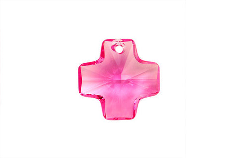 Swarovski Crystal Cross Pendant (6866) Rose
