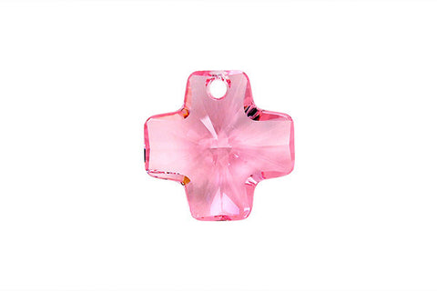 Swarovski Crystal Cross Pendant (6866) Light Rose