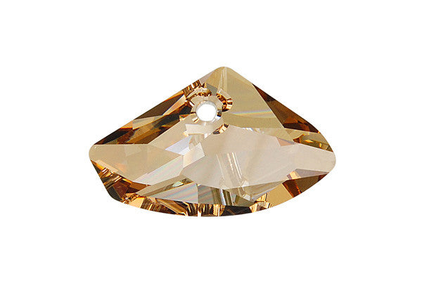 Swarovski Crystal Galactic Horizontal Pendant (6657) Crystal (Golden Shadow)