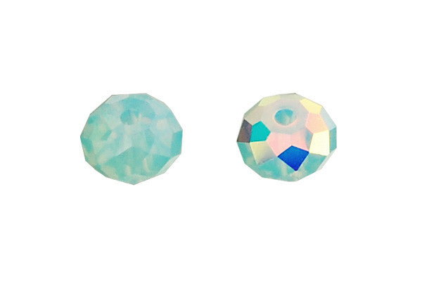 Swarovski Crystal Faceted Rondelle (5040) Pacific Opal (AB)