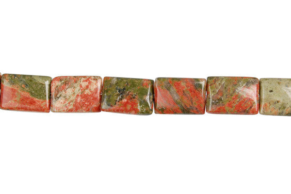 Unakite (Brazil) Flat Rectangle Beads
