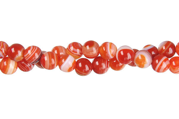 Red Agate Round (Dark) Beads