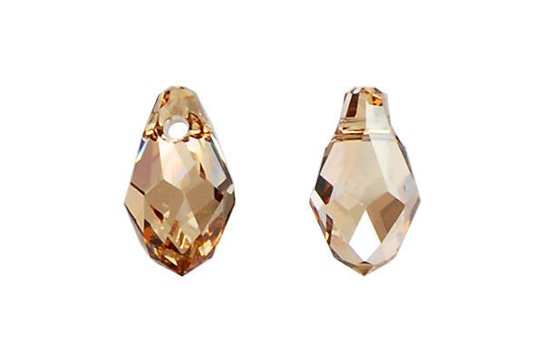 Swarovski Crystal Briolette Pendant (6007) Crystal (Golden Shadow)