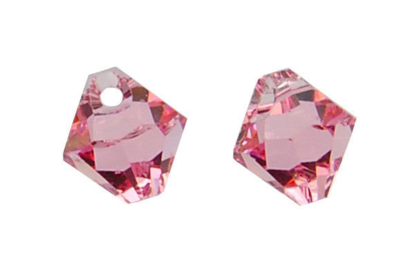Swarovski Crystal Bicone Pendant (6301) Light Rose