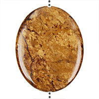 Pendant Bronzite Flat Oval (Vertical Drilled)