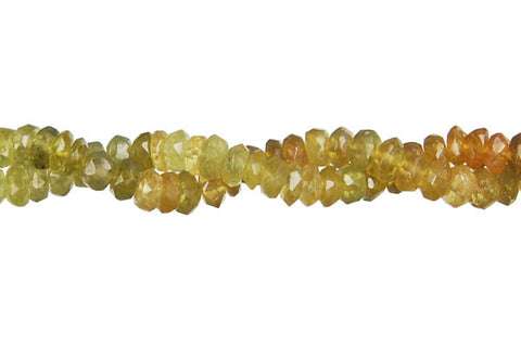 Grosular Faceted Rondelle Beads