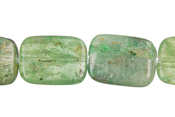 Green Kyanite Flat Rectangle Beads
