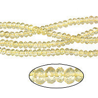 Citrine Faceted Rondelle (AAA) Beads