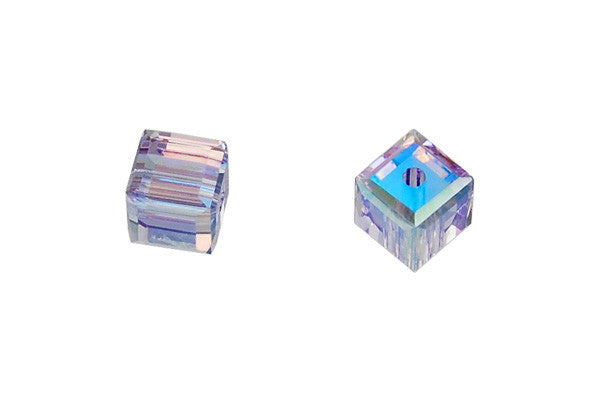 Swarovski Crystal Cube (5601) Light Tanzanite (AB)