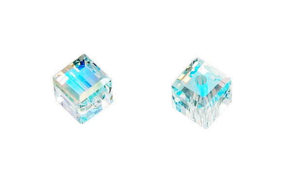 Swarovski Crystal Cube (5601) Light Azore (AB)