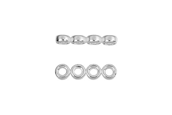 Sterling Silver Quad Rondelle Spacer, 3.0mm