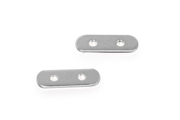 Sterling Silver 2-Strand Divider Bar for 4.0mm Bead, 2.5x8.0mm