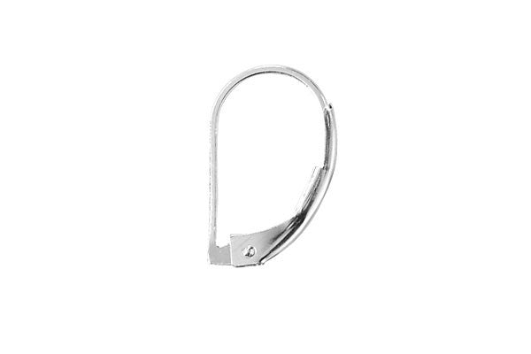 Sterling Silver Leverback, 10.0x16.0mm
