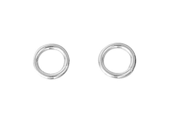 Sterling Silver 3.0mm Closed Jump Ring, 20-Gauge