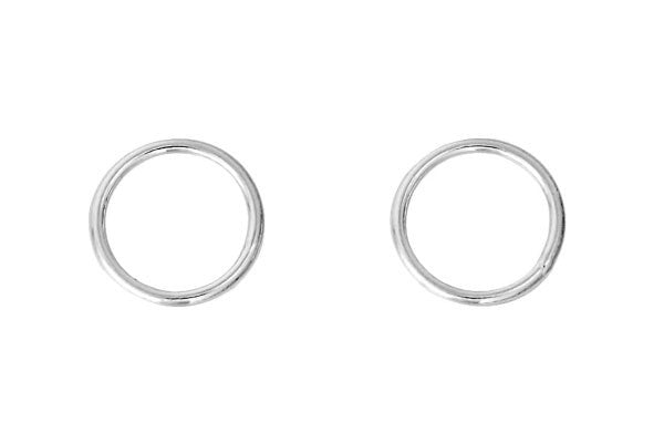 Sterling Silver 6.0mm Closed Jump Ring, 21-Gauge