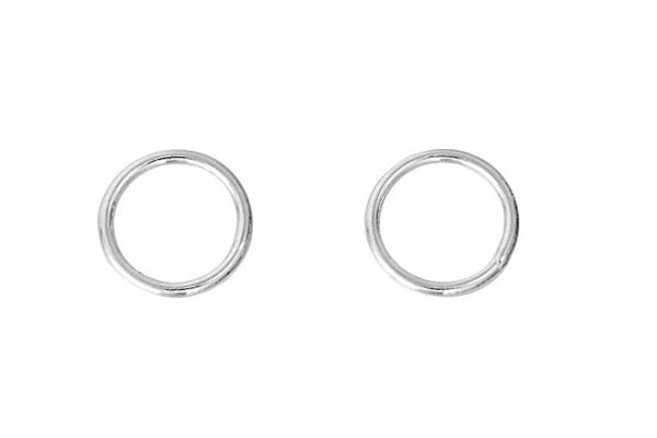 Sterling Silver 7.0mm Closed Jump Ring, 20-Gauge