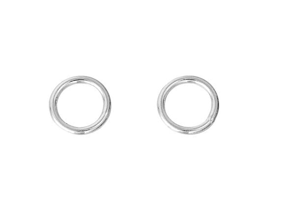 Sterling Silver 5.0mm Closed Jump Ring, 20-Gauge