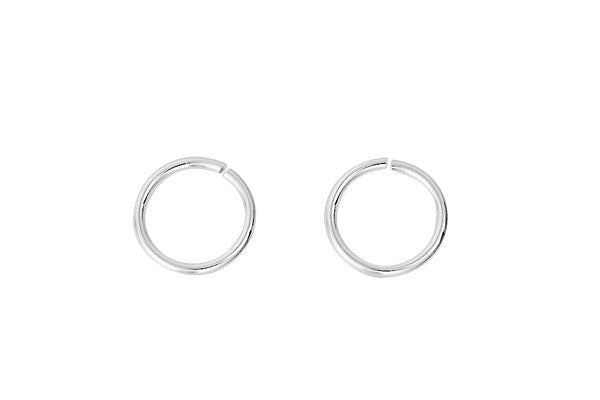 Sterling Silver 8.0mm Jump Ring, 18-Gauge