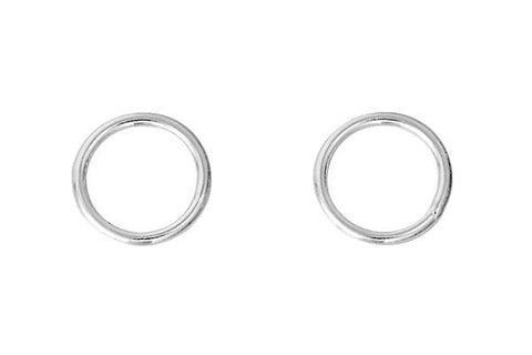 Sterling Silver 8.0mm Jump Ring, 19-Gauge