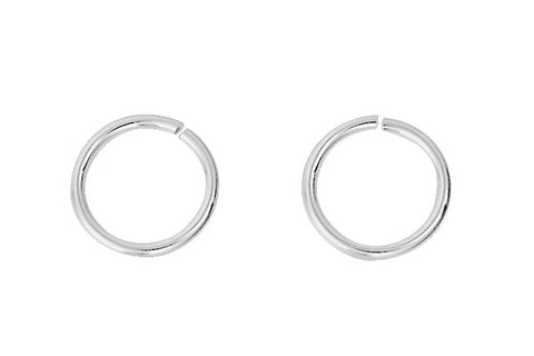 Sterling Silver 6.5mm Jump Ring, 22-Gauge