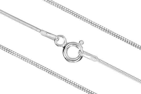 "Sterling Silver 24"" Snake Chain, 0.9mm"