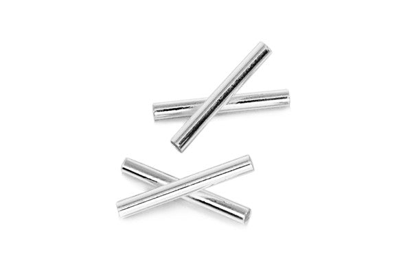 Sterling Silver X Curve Tube, 1.5x12.0mm