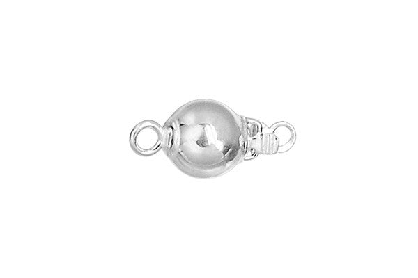 Sterling Silver Pearl Bead Clasp, 6.0mm