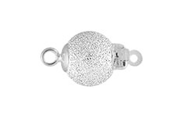 Sterling Silver Stardust Bead Clasp, 8.0mm